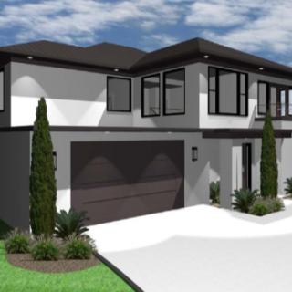 modern house back